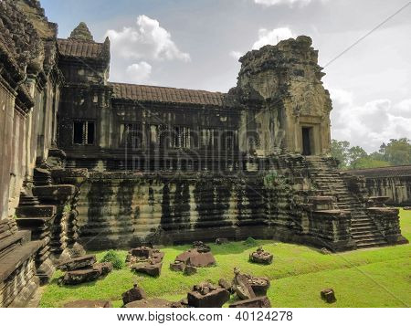 Ancient ruins Angkor Wat