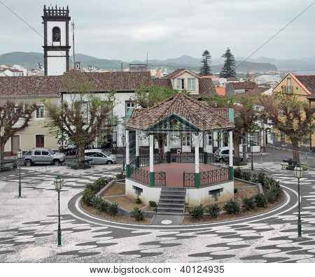 Urban Scenery At Ponta Delgada