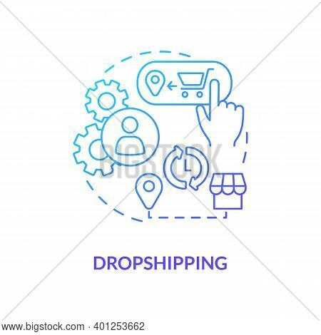 Dropshipping Concept Icon. Ecommerce Warehouse Solutions. Store Does Not Store Products Sold In Stoc