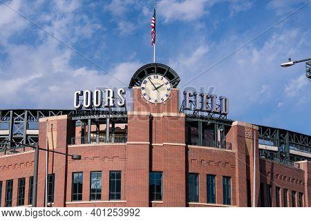 Denver, Co - November 21, 2020: Exterior Of Coors Field, Home Of The Colorado Rockies Major League B