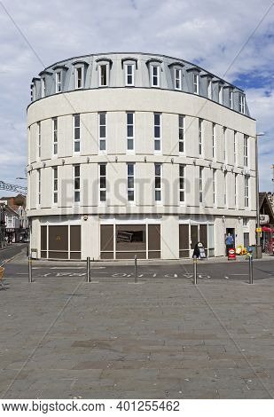 Weston-super-mare, Uk - July 5, 2019: The Former Co-operative Bank Branch Following Its Redevelopmen