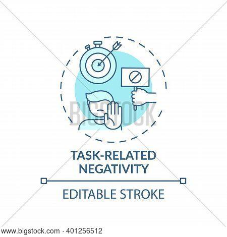 Task-related Negativity Concept Icon. Procrastination Reason Idea Thin Line Illustration. Delaying A