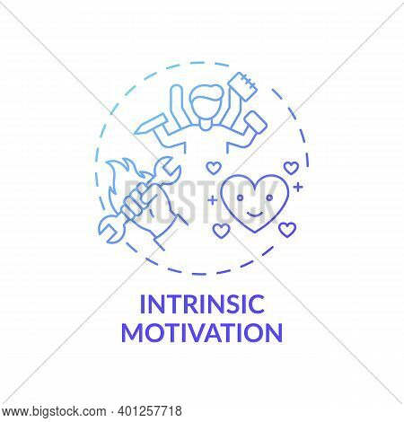 Intrinsic Motivation Concept Icon. Motivation Type Idea Thin Line Illustration. Doing Activity For I