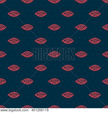 Red Line Reddish Eye Due To Viral, Bacterial Or Allergic Conjunctivitis Icon Isolated Seamless Patte