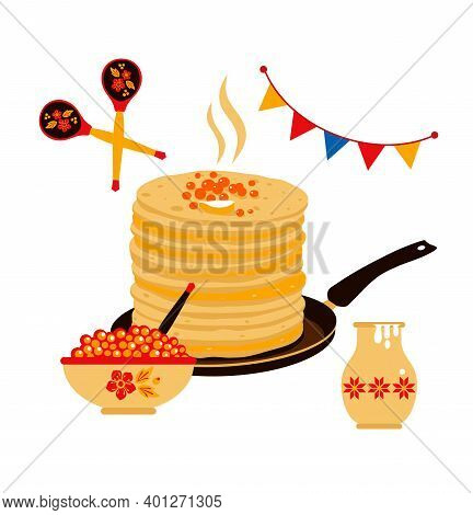The Pancakes Put By A Pile, Tasty Pastries On A Plate, Greasy Food, Tasty Flat Cake, Fried Food, A C
