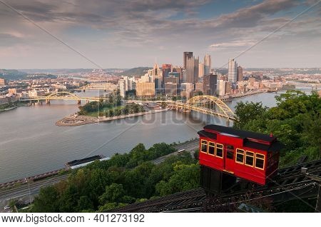 The Duquesne Incline Is A Funicular Located Near Pittsburgh's South Side Neighborhood And Scaling Mt