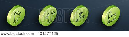 Set Isometric Industry Metallic Pipe, Industry Metallic Pipe, Industry Pipe And Valve And Toilet Bow