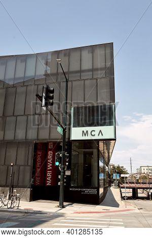 Denver, Colorado - August 4th, 2020:  Entrance To Museum Of Contemporary Art In Downtown Denver, Mca