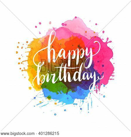 Happy Birthday Typographic Vector Design For Greeting Cards, Birthday Card, Invitation Card. Vector