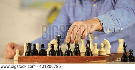 Chess Is Rarely Game Of Ideal Moves. Development Logics. School Teacher. Playing Chess. Intellectual