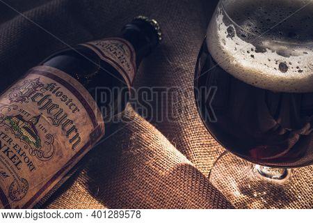 Photo Of A Bottle Of Beer Kloster Scheyern Dunkel , Rustic Style
