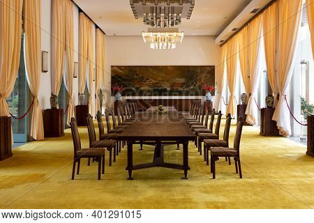 Ho Chi Minh City, Vietnam - March 28, 2019: Meeting Room At The Reunification Palace Or Independence
