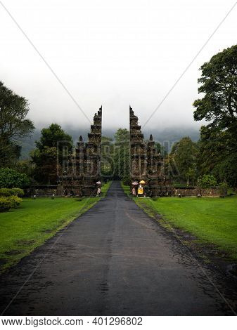 Famous Traditional Balinese Gate To Heaven At Handara Bedugul Bali In Indonesia South East Asia