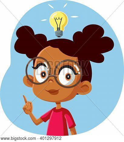African Female Student Having A Clever Idea