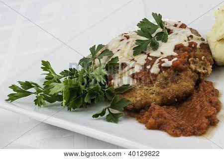 Close Up Chicken Parmesan