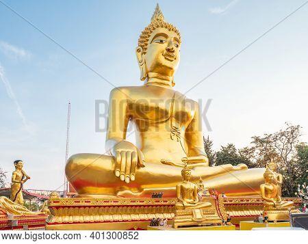 Wat Phra Yai, Big Buddha Temple, On The Top Of Pratamnak Hill Between Pattaya And Jomtien. The Templ