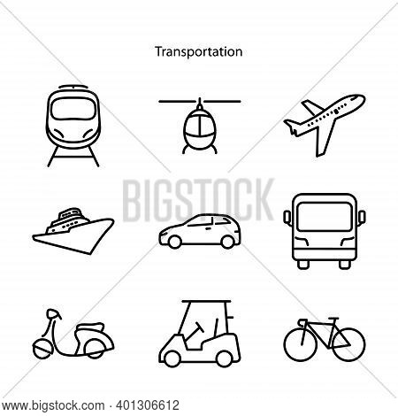 Transportation Icon Isolated On White Background From Transport Collection. Transportation Icon Tren