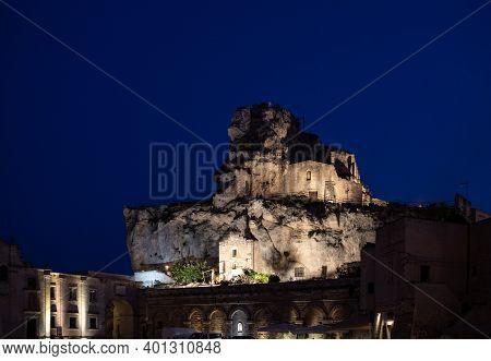 Matera, Italy - September 17, 2019: Church Of Santa Maria Di Idris In The Sassi Di Matera A Historic