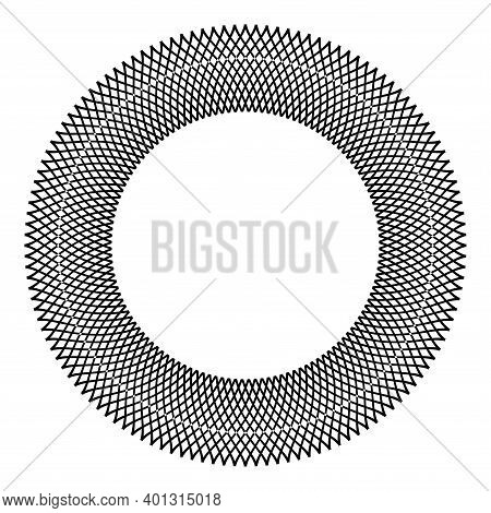 Abstract Decorative Geometric Circle Pattern For Frame. Vector Art.