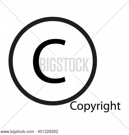 Copyright Icon Isolated On White Background From Miscellaneous Collection. Copyright Icon Trendy And