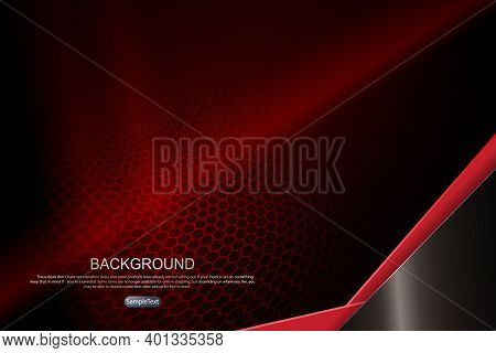 Abstract Dark Design In Red With A Mesh Lattice Silhouette, An Oblique Corner In Brown And Red Shade