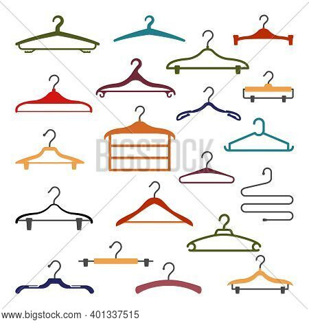 Trempel For Clothing Collection. Wooden Plastic Red Hangers Handy Tool For Hanging Things In Store A