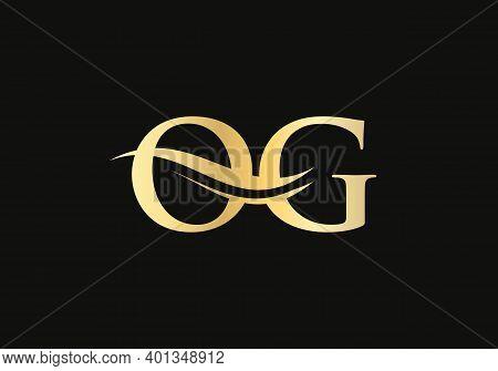Elegant And Stylish Og Logo Design For Your Company. Og Letter Logo Design. Og Logo For Luxury Brand