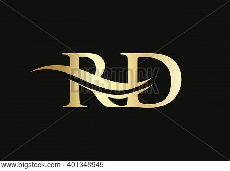 Initial Letter Rd Linked Logo For Business And Company Identity. Modern Letter Rd Logo Vector Templa