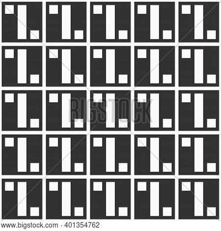 Abstract Geometric Seamless Pattern With Squares, Geometric Shapes. Repeating Geometric Ornament. Si