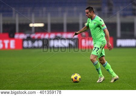 Milano, Italy. 23th December 2020. Adam Marusic Of Ss Lazio  During The Serie A Match Between Ac Mil