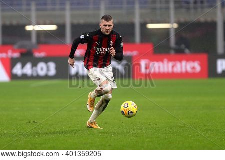 Milano, Italy. 23th December 2020. Ante Rebic Of Ac Milan  During The Serie A Match Between Ac Milan