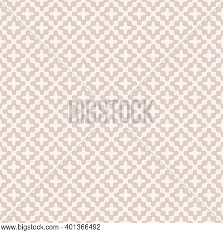 Wavy Seamless Pattern. Subtle Vector Abstract Liquid Lines Texture. Simple Light Pink Background Wit