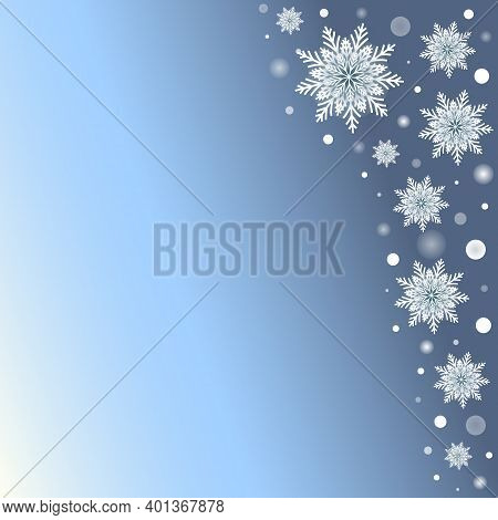 Winter Holidays Background With Snowflakes And Glowing Dots. Greeting Card With Modern Design. Jpeg