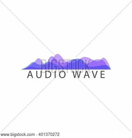 Multicolored Waves Icon, Audio Waves Sign. Vector Illustration Eps 10