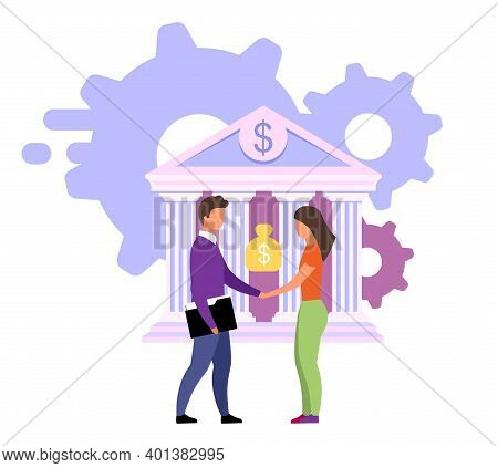 Reliable Banking Service Flat Vector Illustration. Customer Focused Product, Customized Solutions Ca