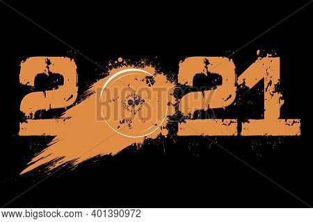 Numbers 2021 And Ping-pong Ball From Blots