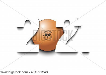 New Year Numbers 2021 And Ping-pong Ball