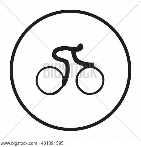 Cycling Icon Isolated On White Background From Sport Collection. Cycling Icon Trendy And Modern Cycl