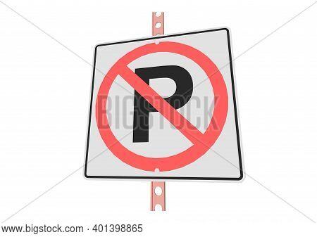 3d Illustration Of Roadsign Isolated On White Background