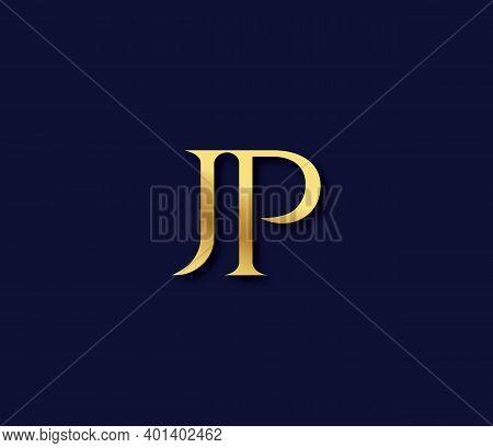 Jp Alphabet Modern Logo Design Concept Company