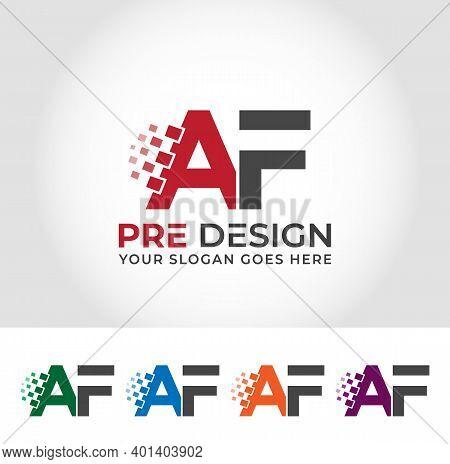 Af Alphabet Creative Logo Design Concept Company