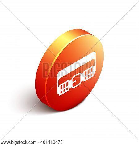 Isometric Hunting Cartridge Belt With Cartridges Icon Isolated On White Background. Bandolier Sign.