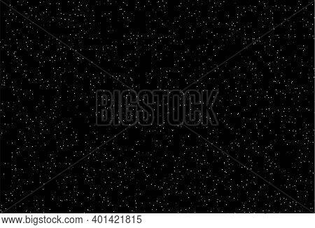 Starry Night Sky Background Galaxy. Vector Star Sky Universe Design