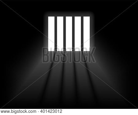 Dungeon Prison Window Background. Jail Cell Empty Window Light Justice Crime Prison
