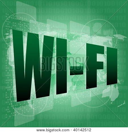 Wi Fi Word On Digital Screen