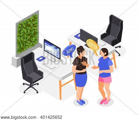 Human Needs Isometric Composition With Partnership And Respect Symbols Vector Illustration