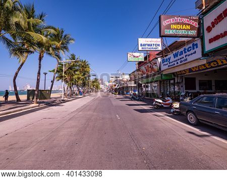Pattaya, Thailand - December 31, 2020: The Covid-19 Pandemic Has Had Dire Consequences For The Resor