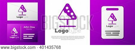 Logotype Road Sign Avalanches Icon Isolated On White Background. Snowslide Or Snowslip Rapid Flow Of