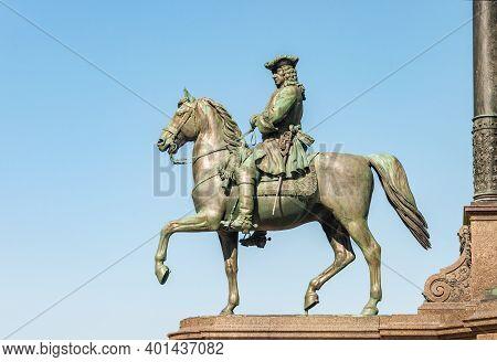 Equestrian Statue Of Leopold Joseph Von Daun (1705-1766), Austrian Military Leader, Field Marshal Ge
