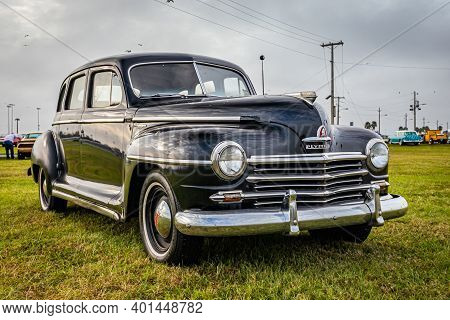 Daytona Beach, Fl - November 29, 2020: 1947 Plymouth Special Deluxe At A Local Car Show.